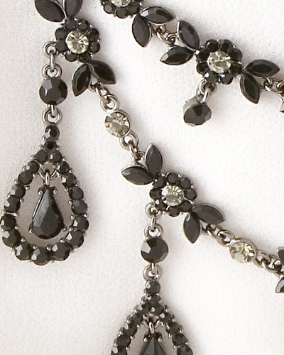 Black Stone Necklace and earrings