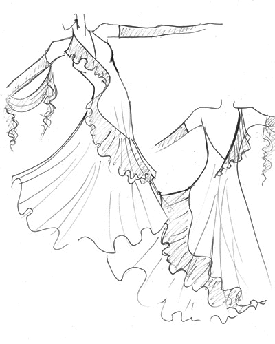 the gallery for gt vera wang wedding dress sketches