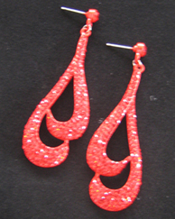 Red Double Tear drop earring