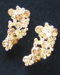 Gold Tiny Cluster Earrings