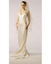 1930's style Bias cut bridal gown