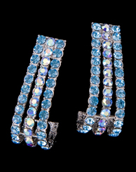 Azure Rhinestone Earrings