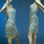 Beaded Fringe Latin Dance Costume-01