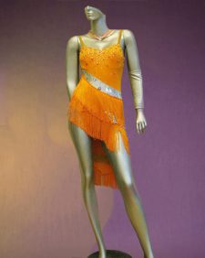 Citris Orange Latin Dance costume-01