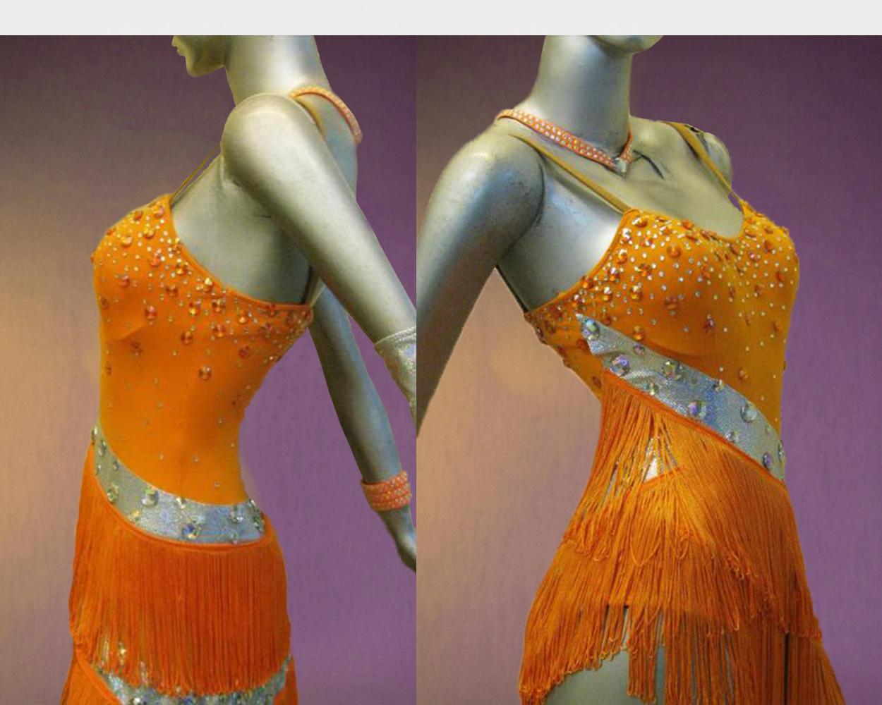 Citris Orange Latin Dance Costume Dancedress Com