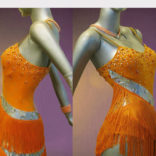 Citris Orange Latin Dance costume-03