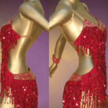 Excitement On the Dance floor - fringed Latin Costume-01