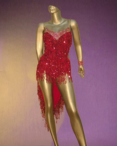 Excitement On the Dance floor - fringed Latin Costume