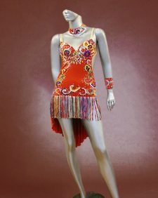 Multicolored Floral Latin dance costume