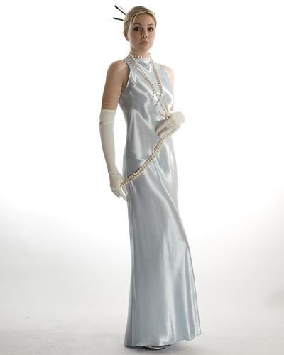 Ice Blue Bias Cut Dress