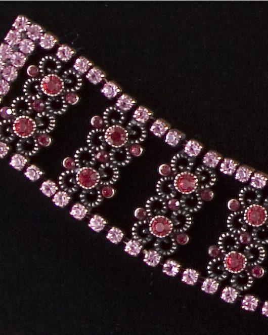 Red And Dusky Pink Bracelet