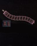 Red And Dusky Pink Bracelet_1