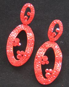 Red Circles Earrings