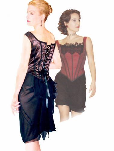 Satin Corset and Layered Skirt