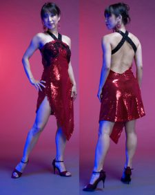Sizzling Red Sequin