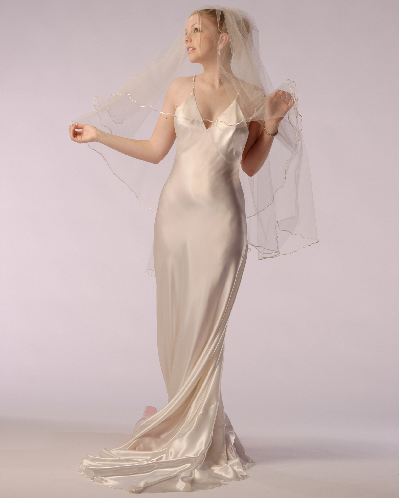 376f55066e8c ... 1930 s style Bias cut bridal gown. wht veil 0382 MAIN. bridal1  wht 0337 crop DETAIL wht front 0377 crop DETAIL wht veil crop 0381 DETAIL