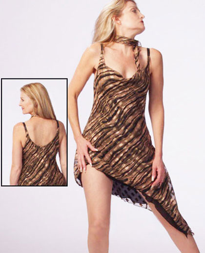 Animal-Print Salsa Dress
