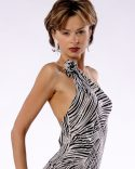 Backless Latin Chic In Shimmering Zebra Sequins_3