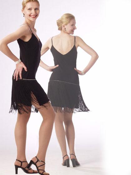 Fringe-Style Dress With Rhinestone Detail