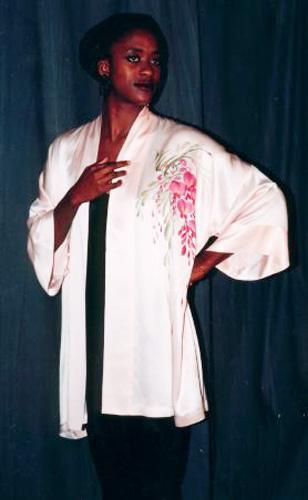 Hand Painted Silk Bathrobe