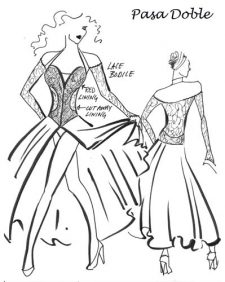 Extras  41. Length of ballroom dress from shoulder to hem (longest point).OR the longest you'd like the skirt (measure from waist down)