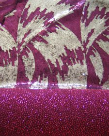 Sequin Red And Gold Design