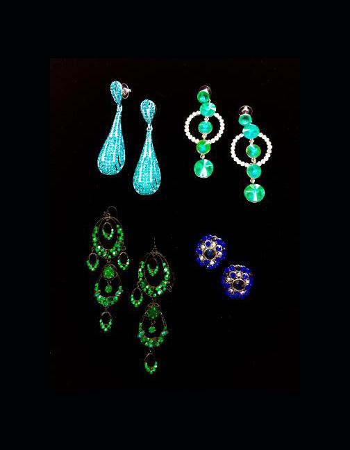 jade-green earrings