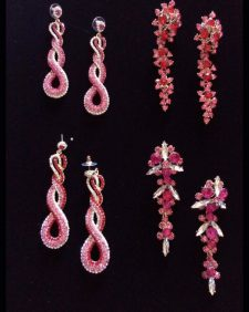 small earrings-lightred