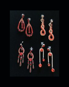 small earrings-red