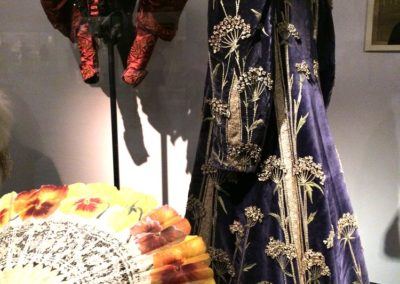 Fan painted by Ronot-Tutin & Velvet Embroidered Evening Coat